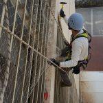 רשת נגד יונים עבודות בגובה ספיידר נט